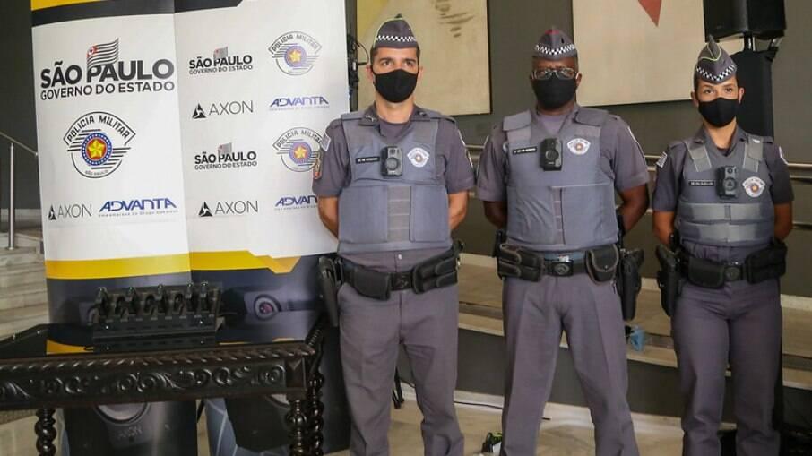Polícia Militar de São Paulo registrou a menor letalidade em oito anos após adotar o uso das câmeras nos fardamentos dos oficiais