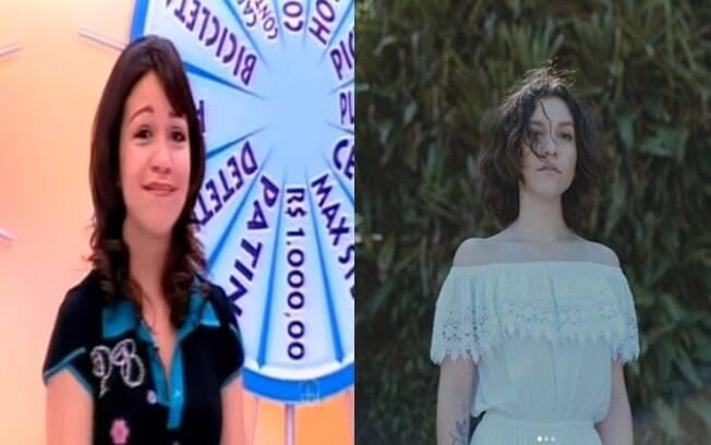 Esquerda: Priscilla Alcântara apresentando o programa infantil