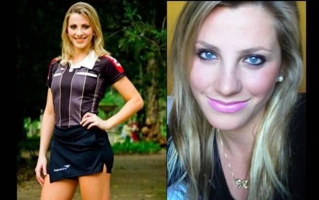 Fernanda Colombo Uliana, a bandeirinha que virou a musa do apito no Brasil. Foto: Reprodução/Facebook