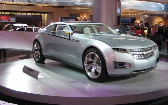 A versão conceitual do Volt elétrico chamou a atenção do público no Salão de Detroit de 2007