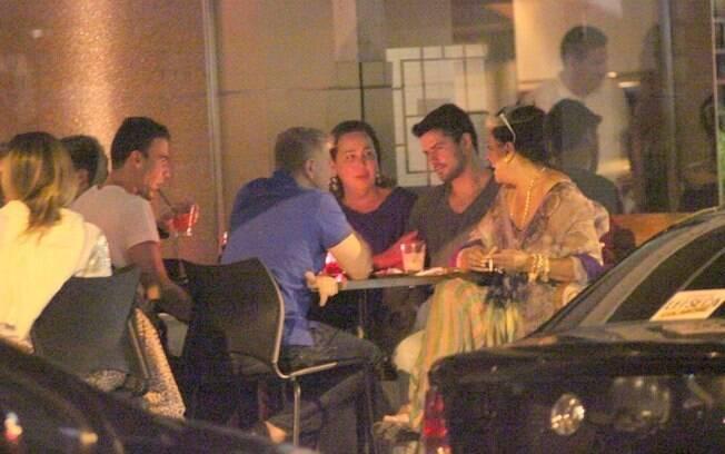Cláudia Jimenez e Miguel Falabella: habitués do restaurante