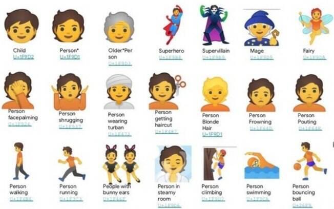 Versões de emoji sem gênero foram criadas para a atualização do Android