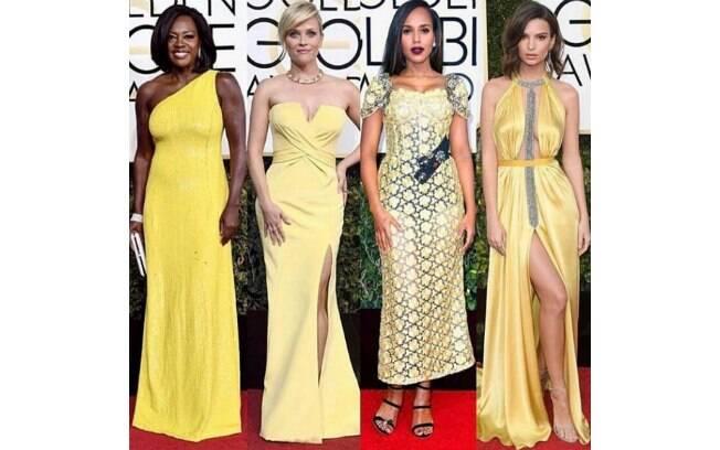 Globo de Ouro 2017: vestidos amarelos