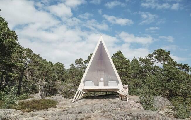 O hotel ecológico que ganha vida com a cabana ecológica Nolla, que significa
