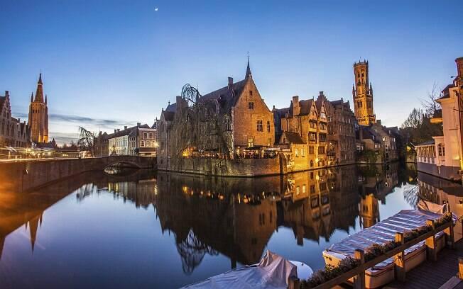 Cidade de Bruges, na Bélgica