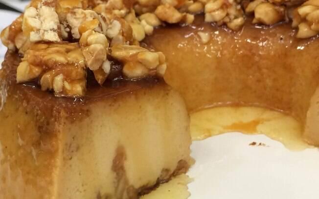 Ana Maria Braga ensinou receita de Pudim de Doce de Leite com Amendoim