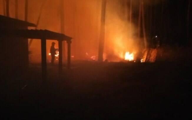 Incêndio atinge barracão de recicláveis em Monte Mor