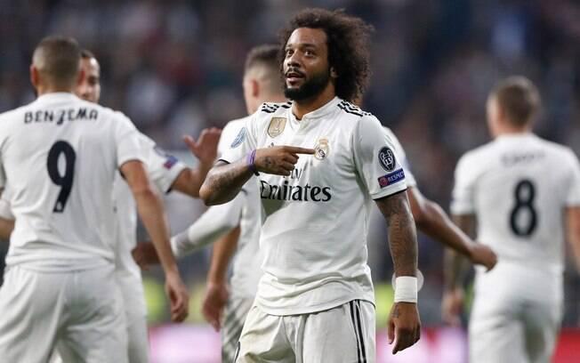 O lateral-esquerdo Marcelo se declarou ao Real Madrid