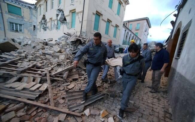 Terremoto destruiu a cidade de Amatrice em agosto de 2016
