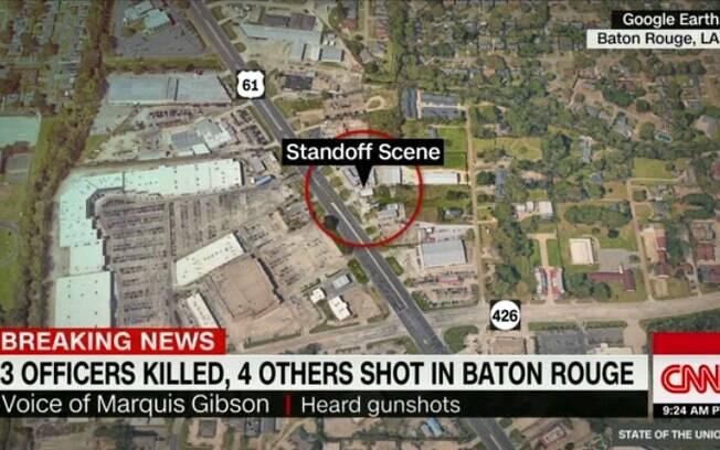 Local de tiroteio em Louisiana