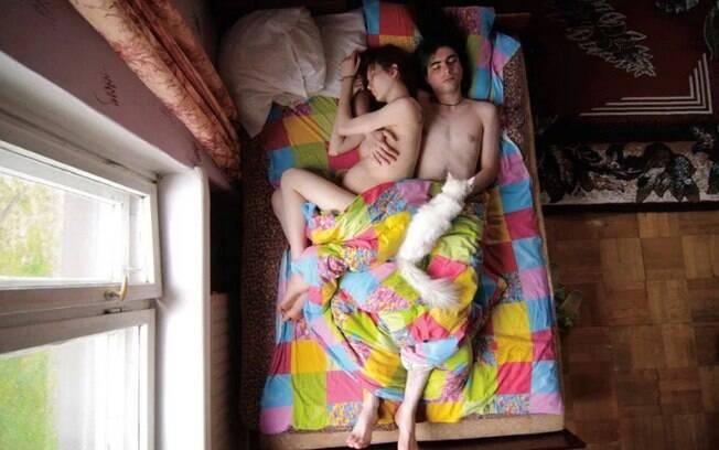 A fotógrafa também quis registrar como vivem os jovens na Rússia