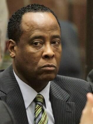 Conrad Murray na prévia do julgamento, em janeiro deste ano