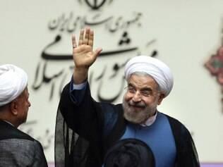 Novo presidente do Irã Hasan Rouhani, toma posse no parlamento em Teerã
