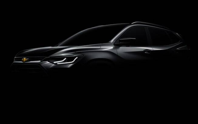 Teaser oficial divulgado pela GM antecipa as linhas do novo Chevrolet Tracker que estará no Brasil
