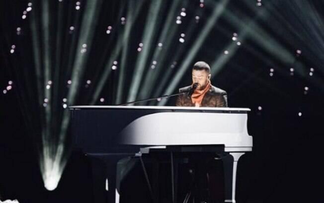 Apresentação de Justin Timberlake no final do futebol americano