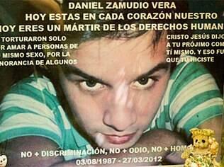 Foto de Daniel Zamudio está cercada de homenagens no cemitério