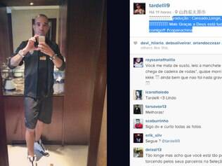 Atacante alvinegro postou foto em uma rede social e falou sobre o seu estado de saúde