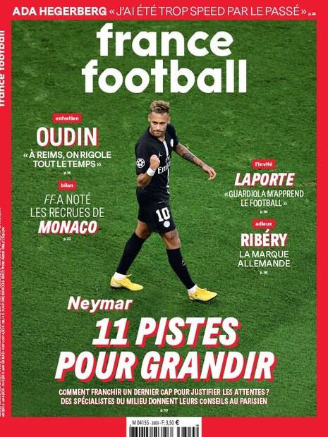 Neymar na capa da France Football