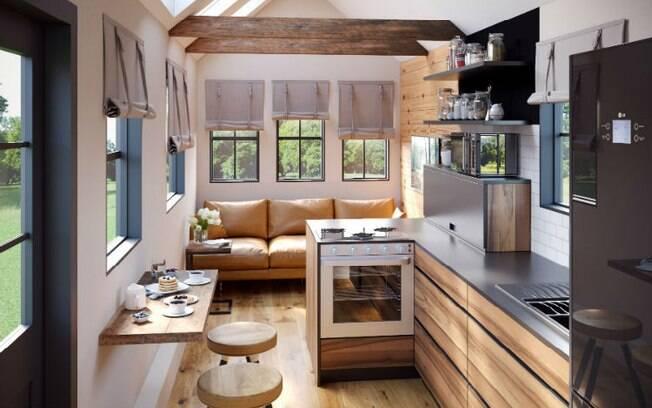 Casa barata, porém não incompleta! Projeto conta com três quartos, cozinha, banheiro e sala de estar