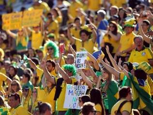 Torcida brasileira teve importante papel na vitoria sobre a Croácia