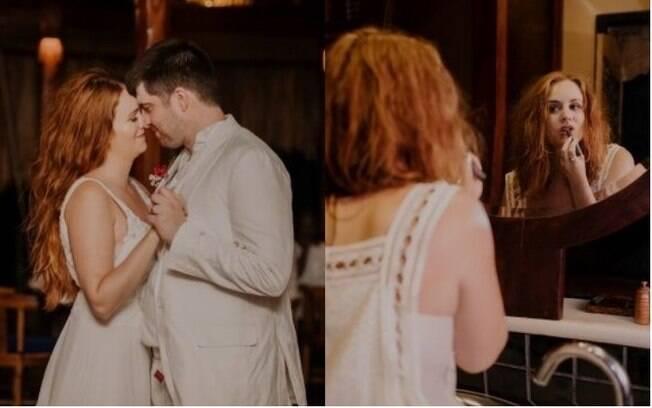 Tracey também escolheu cortar o cabelo antes da festa de casamento e surpreender os convidados
