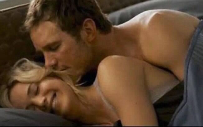 Jennifer Lawrence e Chris Pratt em