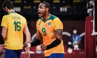 Brasil vence o Japão e avança para semi no vôlei masculino
