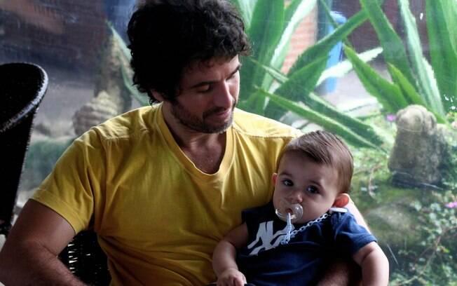 Eriberto Leão e o filho João: