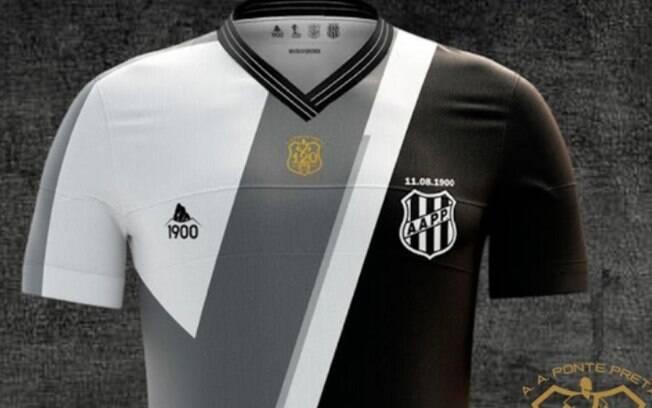 Camisa 3 da Ponte Preta est disponvel para venda