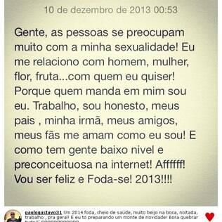 O humorista publicou um desabafo em seu perfil no Instagram