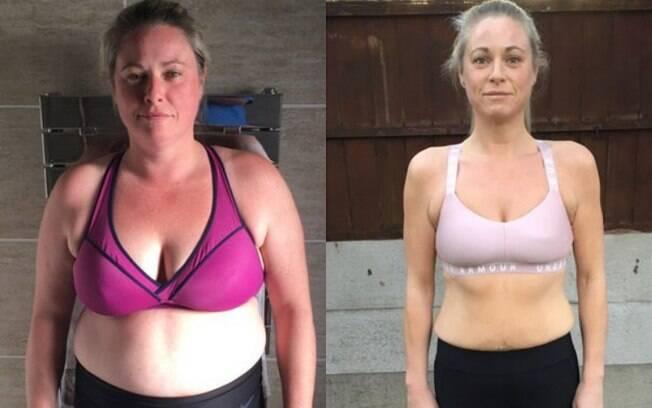 Jeanette Roberts foi motivada a perder peso depois de sofrer dois abortos e não estar se sentindo bem consigo mesma