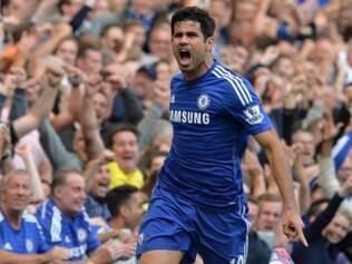 Diego Costa marcou o primeiro gol do Chelsea sobre o Leicester