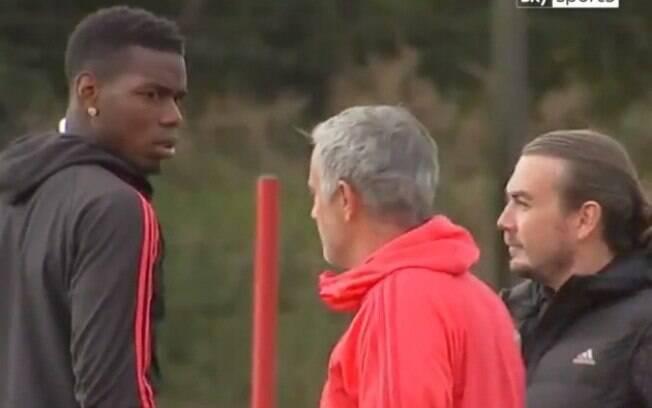 Mourinho e Pogba também discutiram em treinamento