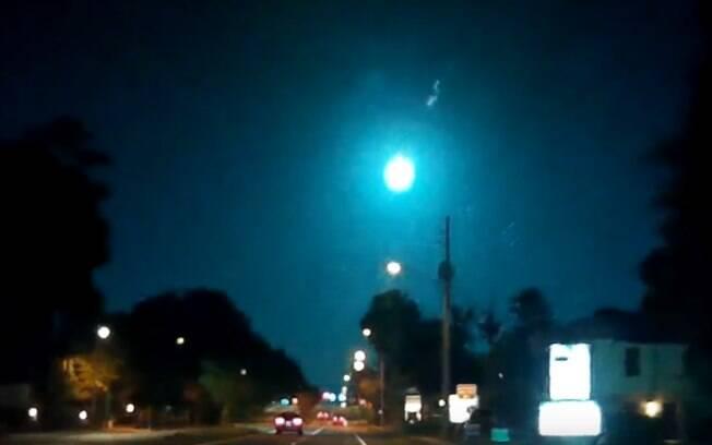 Moradores da cidade de Tallahassee puderam ver o meteoro por cinco segundos
