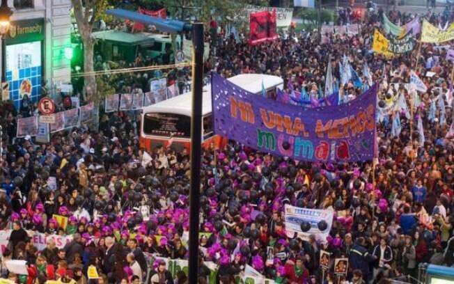 Protesto reuniu milhares de pessoas na Argentina no início do mês