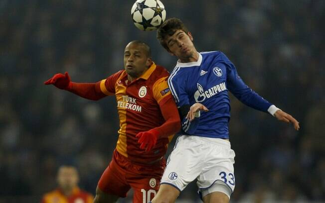 Felipe Melo foi o camisa 10 do Galatasaray no  duelo contra o Schalke