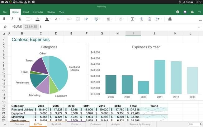 Excel para Android e iOS agora permite edição de documentos sem necessidade de pagamento
