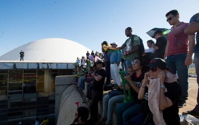 Servidores do Judiciário em protesto contra a falta de reajuste da categoria, no início do mês
