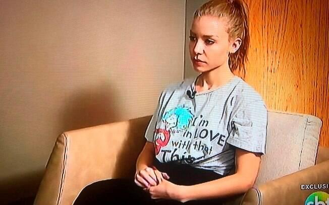 Najila Mendes em entrevista ao SBT