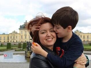 Andréa e o filho Theo
