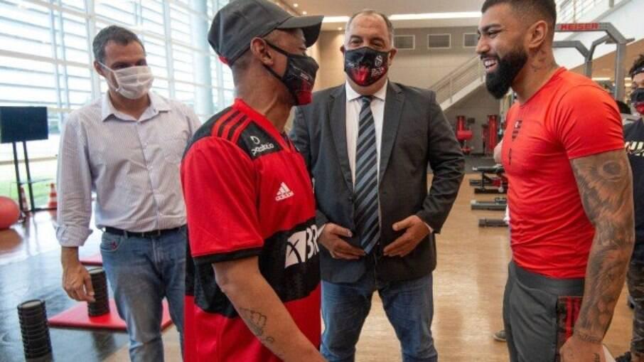 Robson conheceu elenco do Flamengo nesta sexta-feira (07)