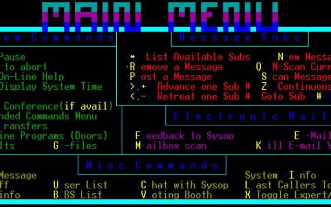 O Bulletin Board System foi o início do desenvolvimento da internet como conhecemos hoje