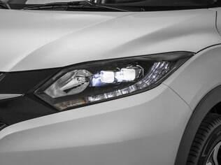 Honda HR-V Touring vem com novos faróis com LED no lugar de lâmpadas convencionais