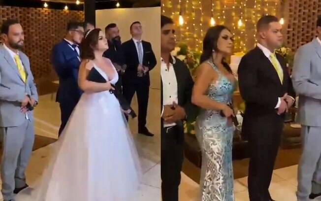 Viraliza vídeo de noiva e convidados armados no casamento