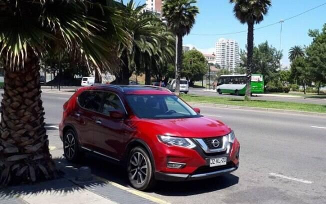 Nissan X-Trail na entrada de Viña del Mar