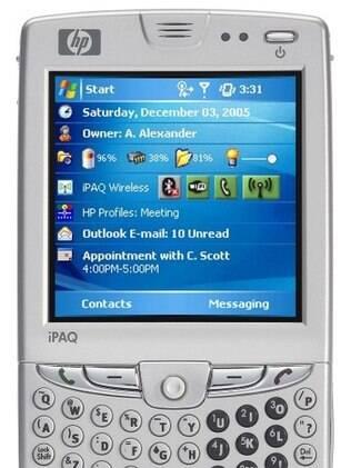 iPaq, da HP, é um dos celulares com Windows Mobile