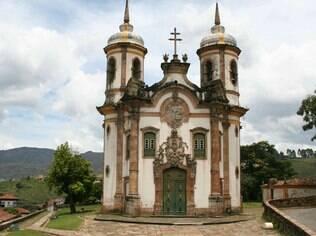 A igreja de São Francisco de Assis, em Ouro Preto, foi projetada por Aleijadinho
