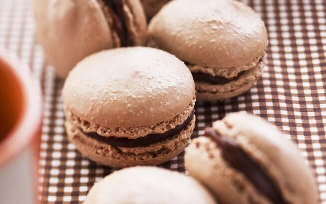 Foto da receita Macaron de chocolate pronta.