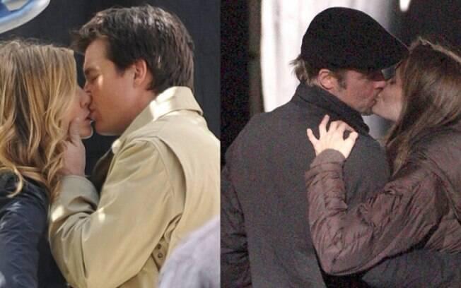 Imagem dos dois se beijando é uma montagem com fotos antigas dos atores