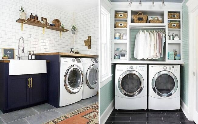 Sim, lavanderias também podem ser estilosas! De acordo com o Pinterest, decoração para o ambiente é tendência no site